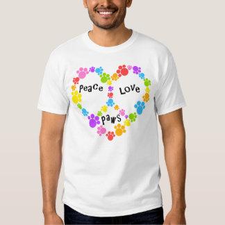 heart peace sign shirt! Rainbow paw prints! Shirt