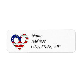 Heart Peace USA Flag Elections Label