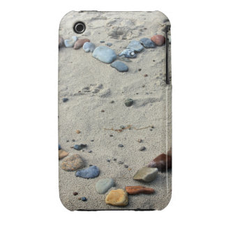 Heart Pebbles in the Sand iPhone 3 Case