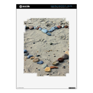 Heart Pebbles in the Sand iPad 3 Skins