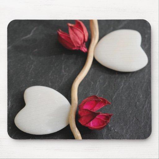 Heart pebbles mouse pad