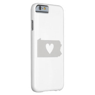 Heart Pennsylvania state silhouette Barely There iPhone 6 Case
