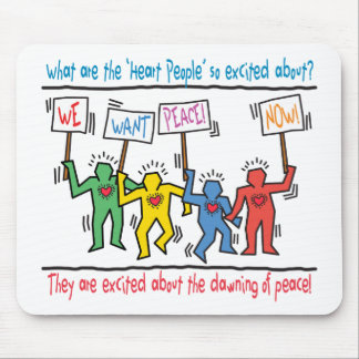 Heart People for Peace Mouse Mat