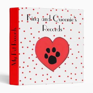 Heart Pet records binder