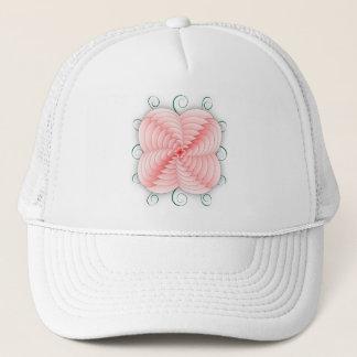 Heart Petal Flower & Swirls Trucker Hat