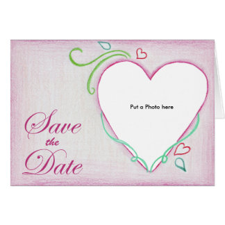 Heart Photo Card Wedding Invitation
