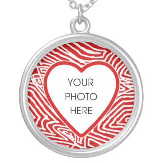 Heart Photo Frame Round Pendant Necklace