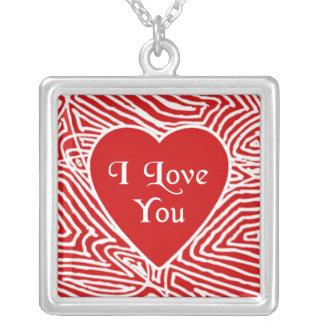 Heart Photo Frame Square Pendant Necklace