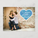 Heart | Photo Save the Date Postcard postcard