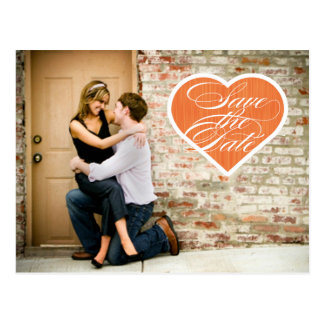 Heart     Photo Save the Date Postcard