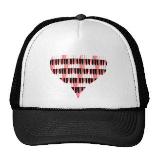 Heart Piano Trucker Hat