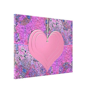 Heart picture canvas print