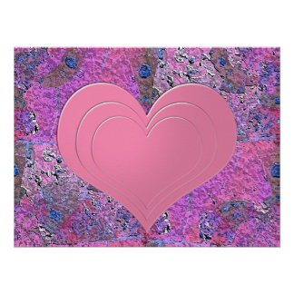 Heart picture poster