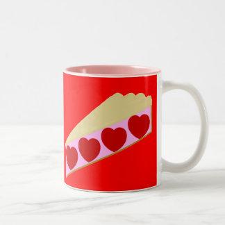 Heart Pie Two-Tone Coffee Mug