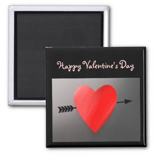 Heart Pierced By Arrow Valentine's Day Magnet