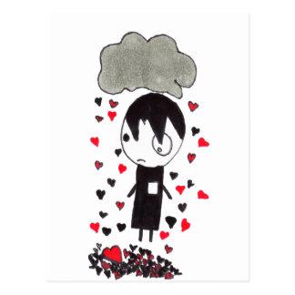 Heart Pile Postcard