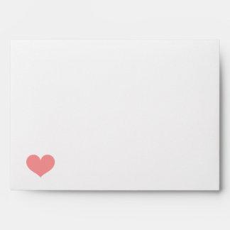 Heart & Pink Stripes Envelopes