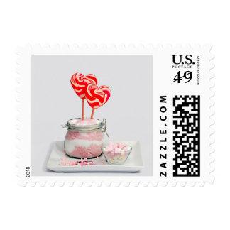 Heart Pink Sugar Candy Desert Stamp