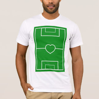 Heart Pitch, l love soccer T-Shirt