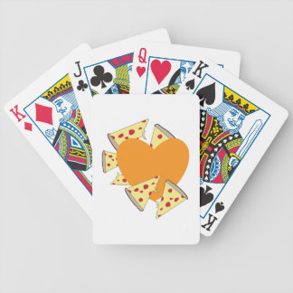 Heart Pizza Bicycle Card Decks