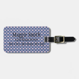 Heart Plaid Background Luggage Tag