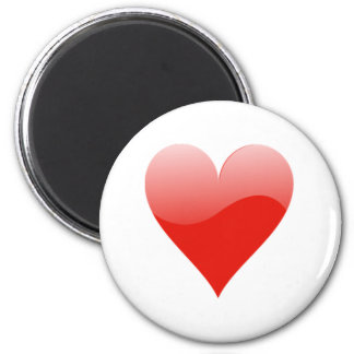 Heart Playing Cards Magnet