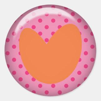 Heart- Polka dots Sticker