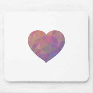 Heart Polygonal Red Pink White Violet Elegant Wish Mousemats