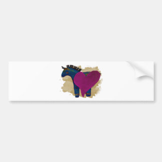 Heart Pony Cards Bumper Stickers