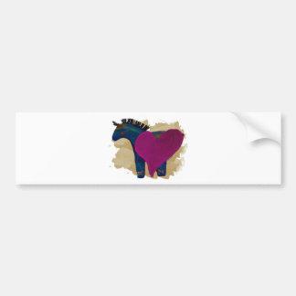 Heart Pony Cards Bumper Sticker