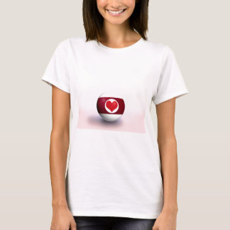 Heart Pool Ball T-Shirt