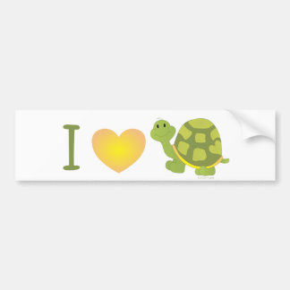 Heart Pop Turtle Bumper Sticker