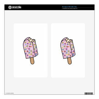 Heart Popsicle cute shirts, accessories, gifts Kindle Fire Skin