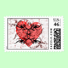 Heart Stamp - A stamp for Valentine's day or to address mail to the one you love