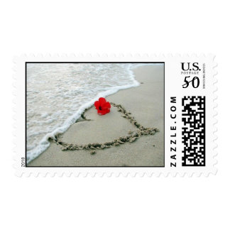 Heart postage