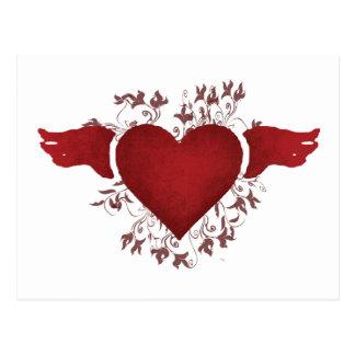 heart postcard