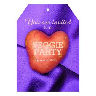 HEART POTATO Veggie party Invitation