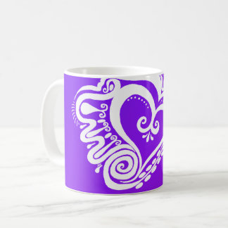 Heart Power - reverse purple blend Coffee Mug