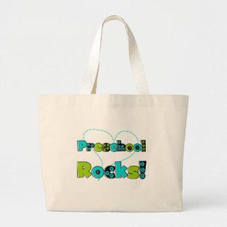 Heart Preschool Rocks Tote Bags
