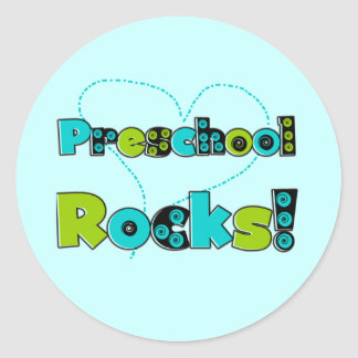 Heart Preschool Rocks T-shirts and Gifts Classic Round Sticker