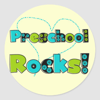 Heart Preschool Rocks T-shirts and Gifts Classic Round Sticker
