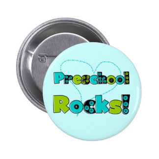 Heart Preschool Rocks Tshirts and Gifts Button