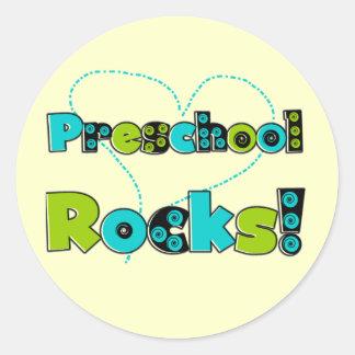 Heart Preschool Rocks Tshirts and Gifts Classic Round Sticker