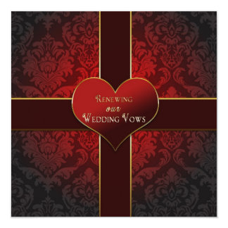 Heart/Present - Renewal of Wedding Vows Invitation