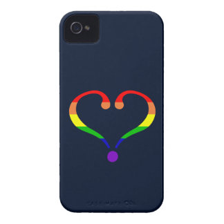 Heart Pride and Rainbow and love of San Valentin Case-Mate iPhone 4 Case