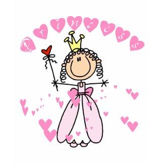 Heart Princess Stick Figure Tshirts and Gifts shirt