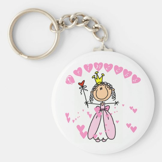 Heart Princess Stick Figure Tshirts and Gifts Keychain