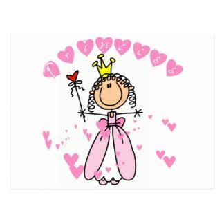 Heart Princess Stick Figure Tshirts and Gifts Postcard