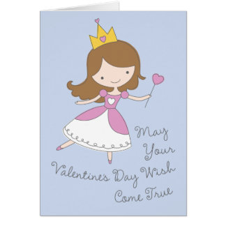 Heart Princess Valentine's Day Card