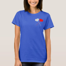 Heart print short sleeve T-Shirt